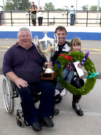 Gary Bryan and Mike Hose with the Championship Cup - ©Tony Roberts