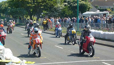 Mike Hose on the grid at Billown, Isle of Man, 2010